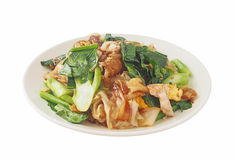 Fried thin noodles with thick soy sauce Royalty Free Stock Image