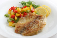 Fried tilapia with pepper Royalty Free Stock Image