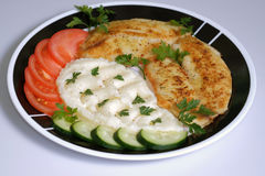 Fried tilapia on plate Stock Image