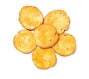 Fried toasted round Royalty Free Stock Image