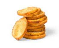 Fried toasted round Royalty Free Stock Photo