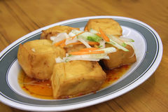 Fried tofu Stock Photography