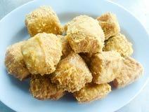 Fried Tofu Crispy 02 Royaltyfri Foto