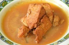 Fried tofu curry Stock Photo