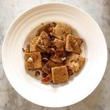 Fried Tofu, estilo chino Fotografía de archivo libre de regalías