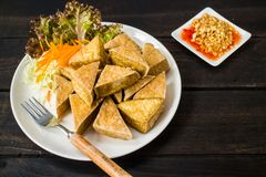 Fried Tofu stock photos