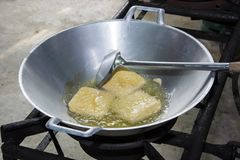 Fried tofu Stock Image