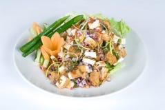 Fried tofu salad Stock Photos