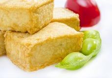 Fried tofu. Royalty Free Stock Photography