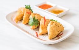 Fried tofu - vegan food. Fried tofu - vegan or vegetarian food Royalty Free Stock Photos