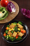Fried Tofu with Vegetables. Royalty Free Stock Photos