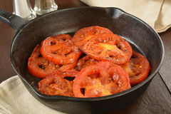 Fried tomatoes Royalty Free Stock Image