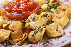 Fried tortellini Royalty Free Stock Photos
