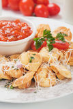 Fried tortellini pasta Royalty Free Stock Images