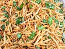 Fried tracks on the Thai market Royalty Free Stock Photo