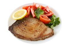Fried tuna with salad Stock Image