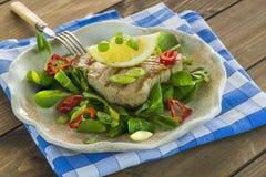 Fried tuna steak Stock Images
