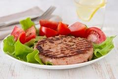 Fried turkey hamburger Stock Images