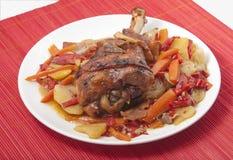 Fried turkey leg royalty free stock images