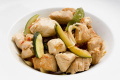 Fried turkey meat with vegetables Stock Photography