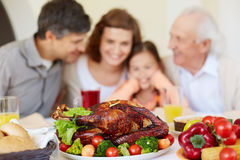 Fried turkey and vegetables Stock Image