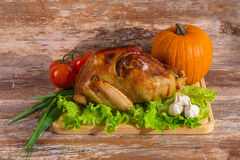 Fried turkey with vegetables Stock Images