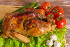 Fried turkey with vegetables Royalty Free Stock Images
