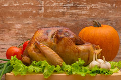 Fried turkey with vegetables Stock Photo