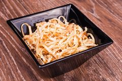Fried udon noodles Royalty Free Stock Photography
