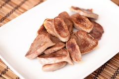 Fried veal tongue Royalty Free Stock Images