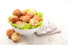 Fried vegan ball Royalty Free Stock Images