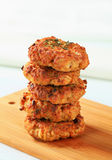 Fried vegetable burgers Royalty Free Stock Photos