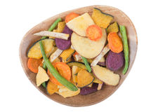 Fried vegetable chips Stock Photography