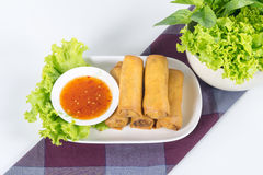 Fried Vegetable egg roll, spring roll Royalty Free Stock Image