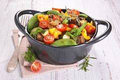 Fried vegetable Stock Photo