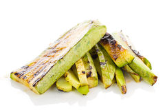 Fried vegetable marrow Stock Photo