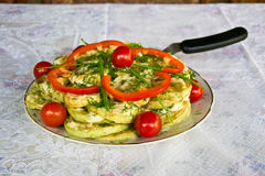 Fried vegetable marrows Royalty Free Stock Image