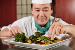 Fried vegetables cooked by chef Stock Images
