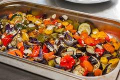 Fried vegetables Stock Images