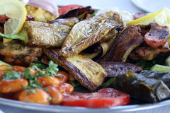 Fried vegetables Royalty Free Stock Photo