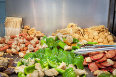 Fried vegetables at Hong Kong street food stall Stock Photo