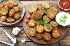 Fried vegetables Stock Images