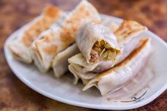 Fried Veggie Dumplings fotografia stock