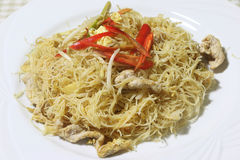 Fried vermicelli Stock Photography