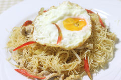 Fried vermicelli Stock Image