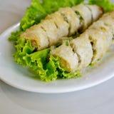 Fried Viet Nam Traditional Spring rullar mat Fotografering för Bildbyråer
