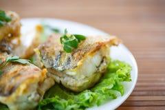 Fried walleye Stock Photo