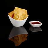 Fried Wantan Chips Stock Photography