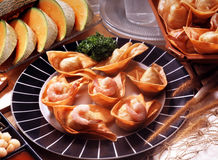 Fried wanton Royalty Free Stock Photography
