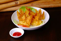 Fried Wanton Royalty Free Stock Photos